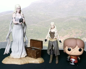 Groessenvergleich der Game of Thrones Sammelfiguren